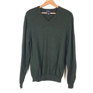 Brooks Brothers Hunter Green Wool Blend Sweater